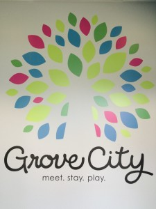 Big Changes - Visit Grove City Lobby Mural