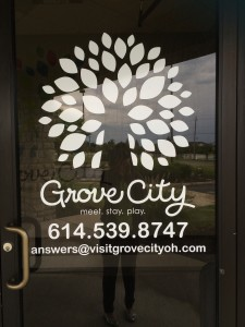Big Changes - Visit Grove City signage