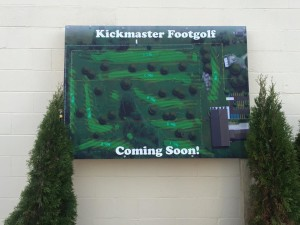 KickMaster FootGolf opening in 2016 in Grove City