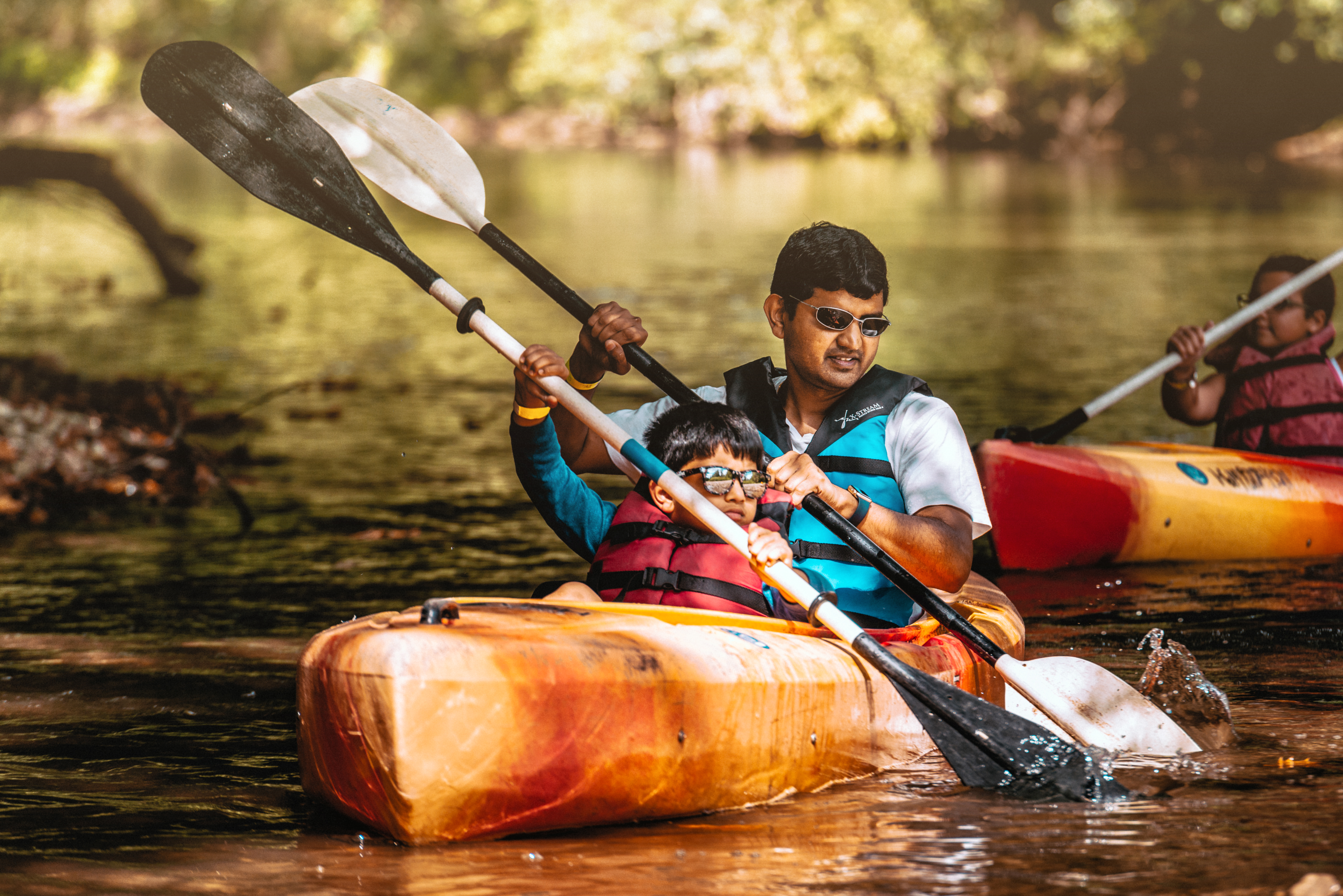 Father-Son Kayaking Trapper John's